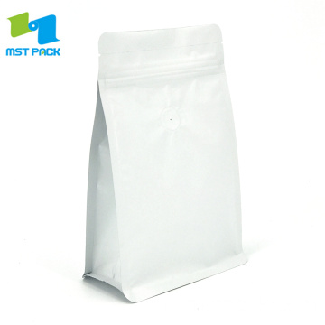250g Matte White Coffee Bag dengan Valve
